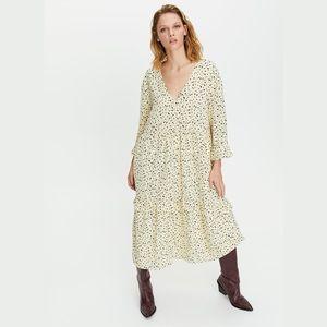 Aritzia Little Moon Spritz Dress tiered midi
